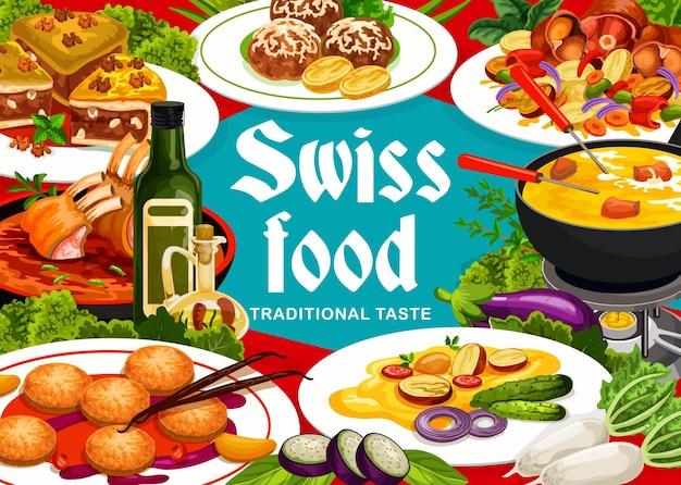 Schweizer küche grizon lamm, raclette mit kartoffeln