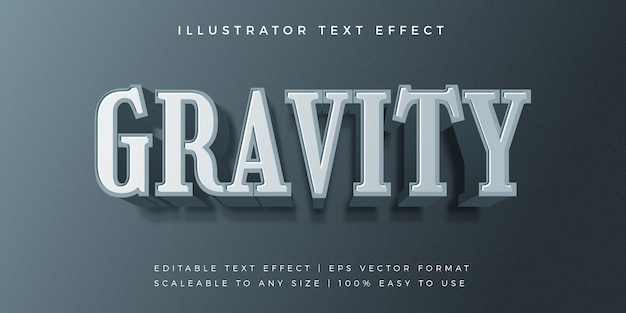 Schwerkraft moderner textstil schrift-effekt