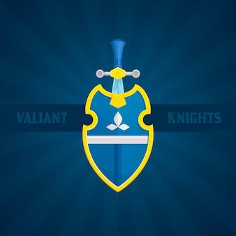 Schwert und schild-symbol