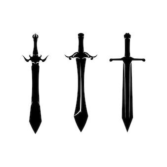 Schwerter silhouette sammlung