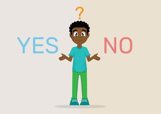 Schwierige entscheidung: ja oder nein