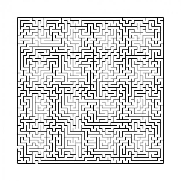 Schwieriges schwarz-weiß-labyrinth