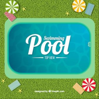 Schwimmbad hintergrund in einer draufsicht