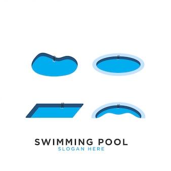 Schwimmbad logo vorlage