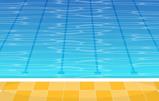 Schwimmbad sommerferien gesunder sport cartoon