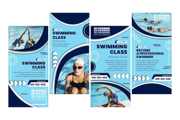 Schwimmen instagram geschichten sammlung