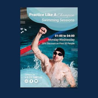 Schwimmen poster vorlage
