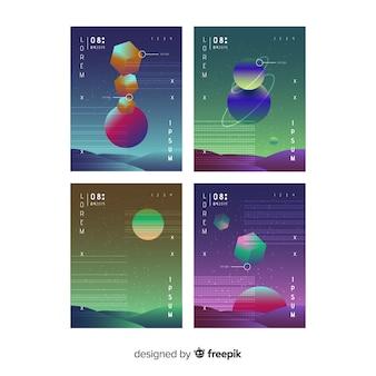 Schwimmende sammlung von polygonen der steigung 3d