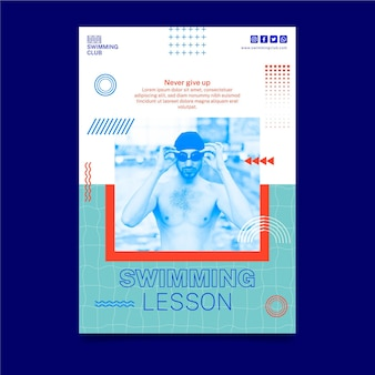 Schwimmende vertikale flyer-vorlage