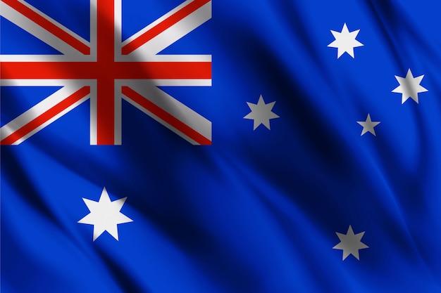 Schwimmender seidenhintergrund der australischen flagge