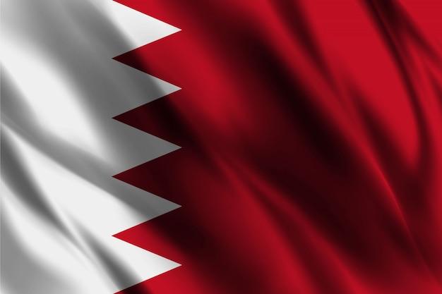 Schwimmender seidenhintergrund der bahrain-flagge