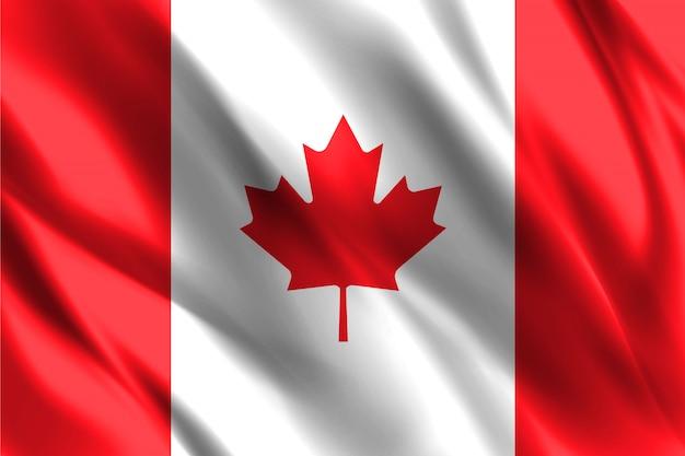 Schwimmender seidenhintergrund der kanada-flagge
