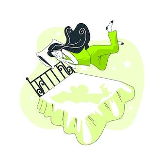 Schwimmendes konzept illustration
