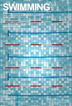 Schwimmsport-plakatschablone