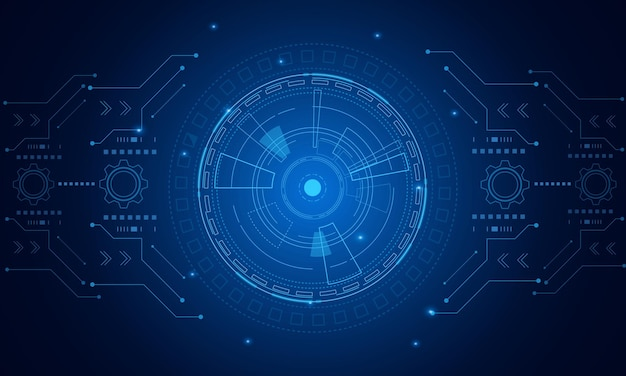 Sci fi futuristische benutzeroberfläche, hud, abstrakter hintergrund der technologie