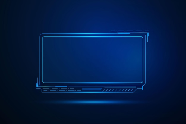 Sci fi futuristische benutzeroberfläche, hud template frame design, technologie abstrakten hintergrund