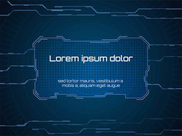 Sci-fi-futuristische benutzeroberfläche rahmen vektor-illustration
