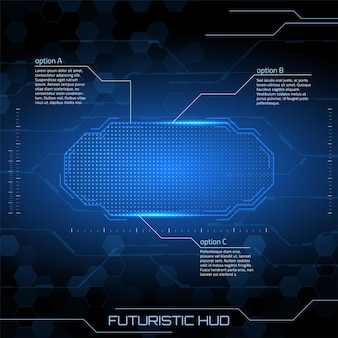 Sci-fi-futuristische benutzeroberfläche vektor-illustration