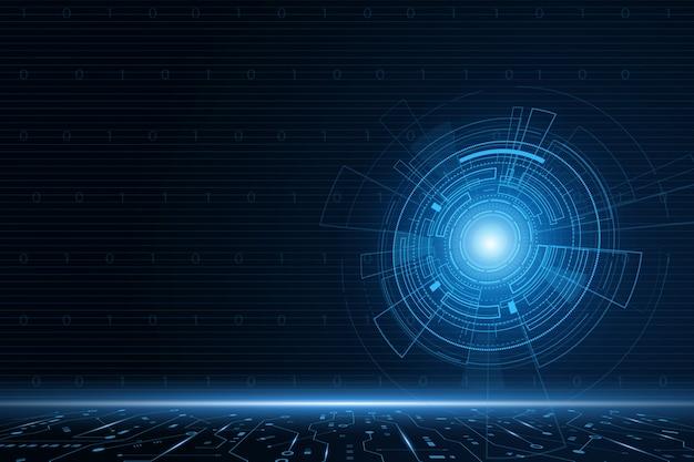 Sci fi futuristische benutzeroberfläche
