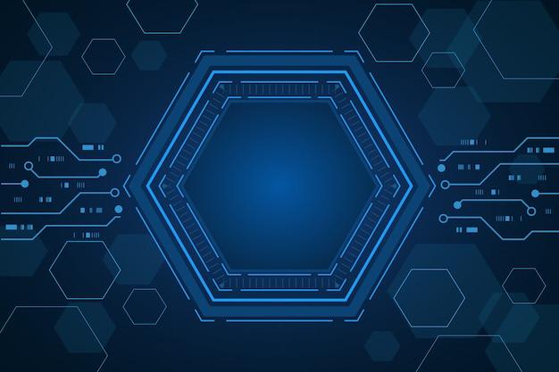 Sci fi sechseckige innovation zukunftstechnologie hintergrund,
