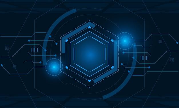 Sci fi sechseckiges futuristisches muster, innovation zukünftiger technologiehintergrund,
