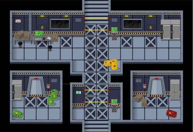 Sci-fi top down tileset
