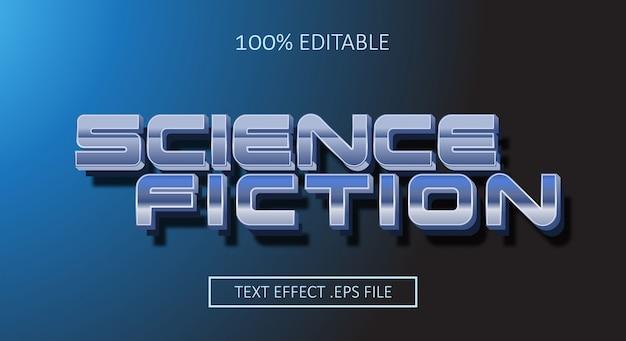 Science-fiction-textstil-effekt. bearbeitbarer schriftstil