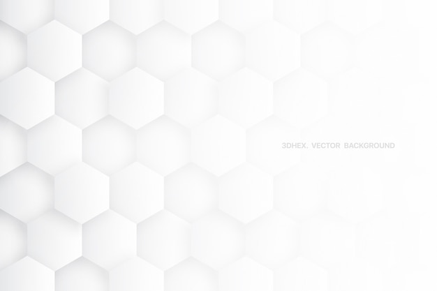 Science technologic 3d hexagons minimalist white