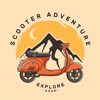 Scooter logo emblem transport