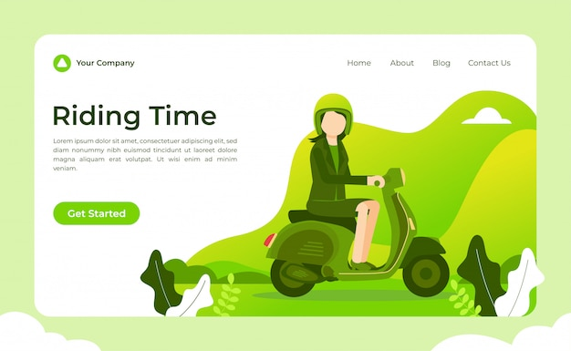 Scooter riding time landing page
