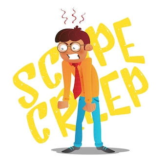 Scope creep inschrift.