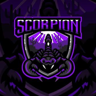 Scorpion maskottchen spielschild