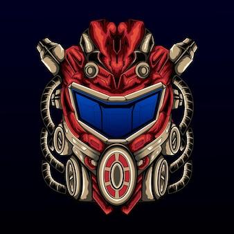 Scouting-roboter-maskottchen-vektor-illustration