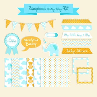 Scrapbook baby-dusche-kit