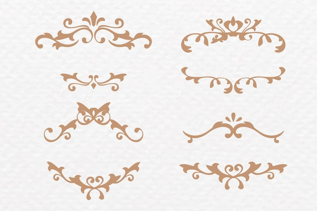 Scroll-ornament-rahmen-vektor-gold-art-deco-set