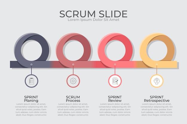 Scrum - infografik-konzept