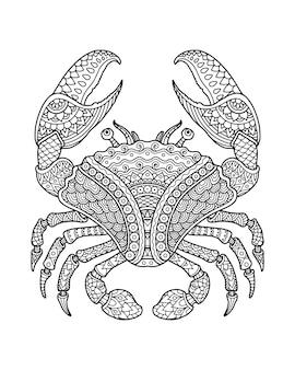 Sea life malvorlagen illustration und druckdesign