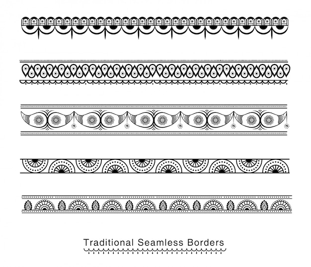 Seamless borders design