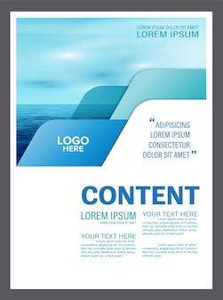 Seascape broschüre flyer vorlage