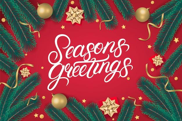 Season's greetings schriftzug text