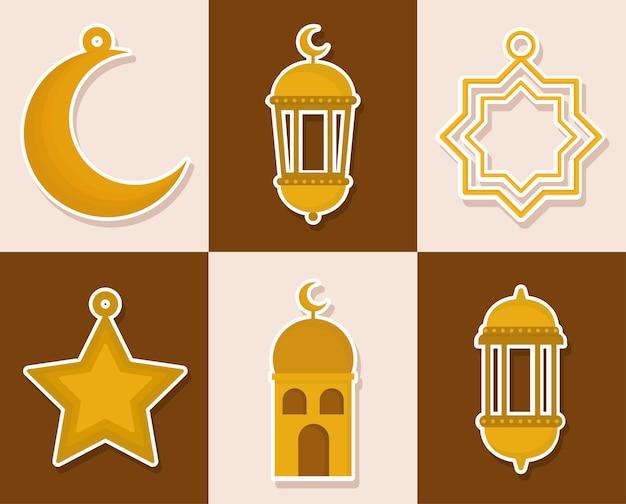 Sechs araber-symbole