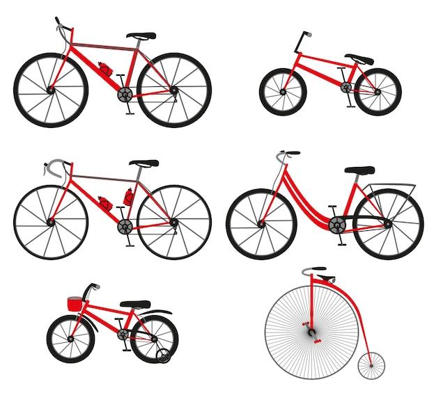 Sechs arten von fahrrädern