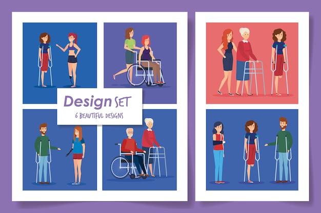 Sechs entwürfe von menschen mit behinderungen