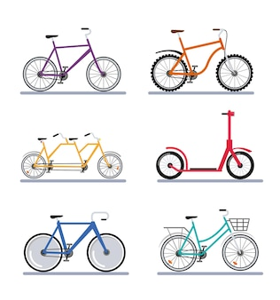 Sechs fahrräder fahrzeuge