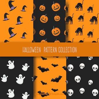 Sechs fantastische muster für halloween