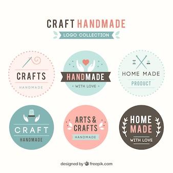 Sechs logos für das handwerk