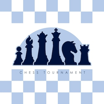 Sechs schachfiguren