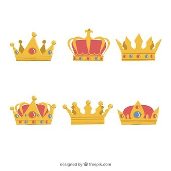 Sechs schöne kronen