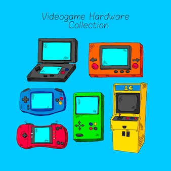 Sechs verschiedene konsolen