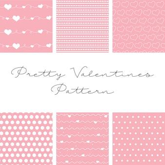 Sechs wunderschöne muster zum valentinstag